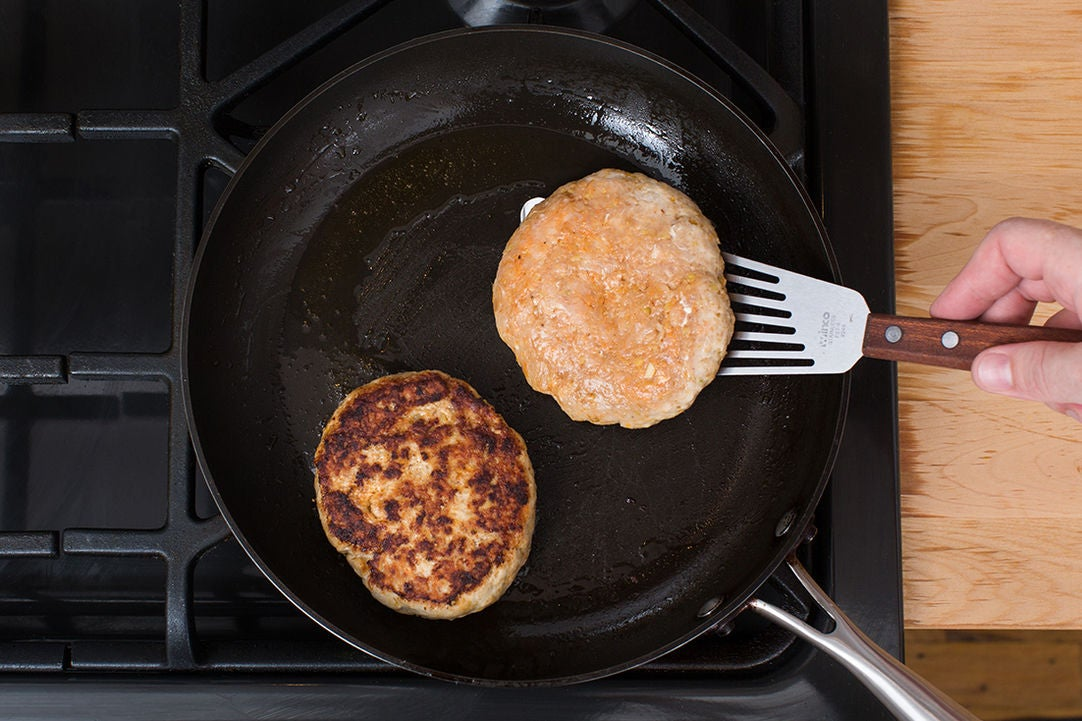 Form & cook the patties: