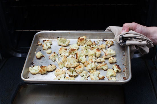 Roast & dress the cauliflower: