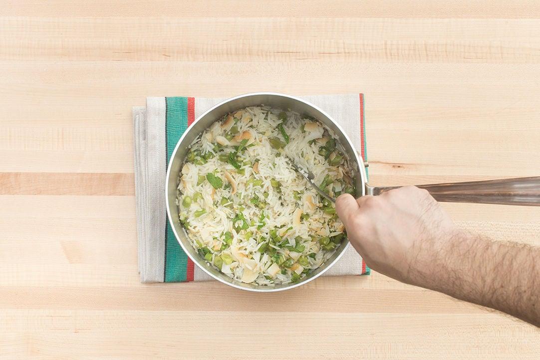 Make the coconut rice: