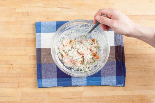 Make the salmon filling: