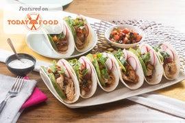 Chicken Tinga Tacos with Summer Squash & Tomato Salsa