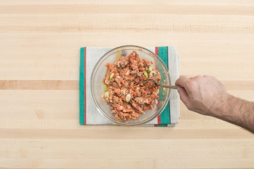 Cook & dress the salmon: