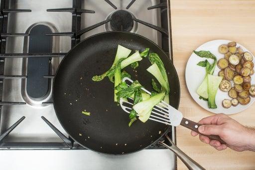 Cook the bok choy: