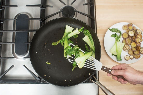 Cook the bok choy:
