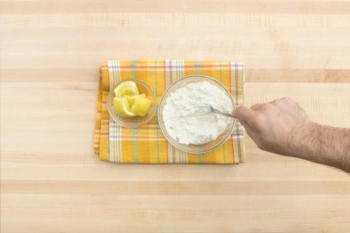 Make the lemon ricotta & serve your dish: