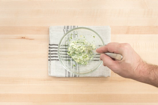 Make the garlic-herb butter: