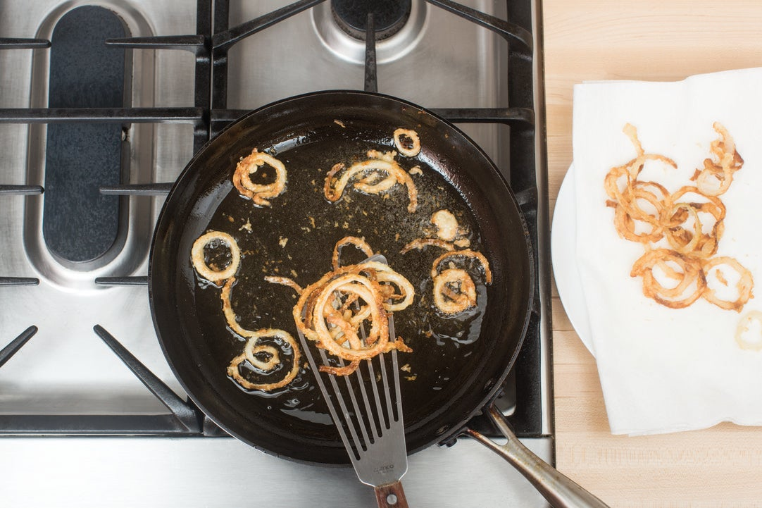 Make the onion rings: