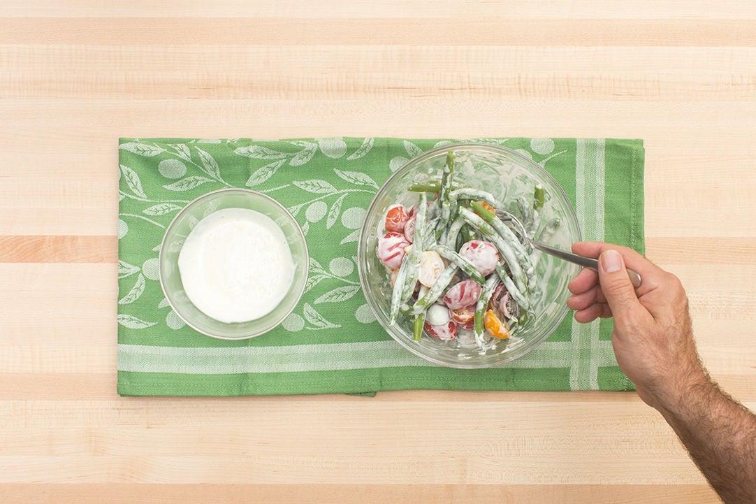 Make the aioli & salad: