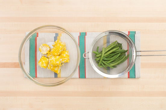 Cook the beans & corn: