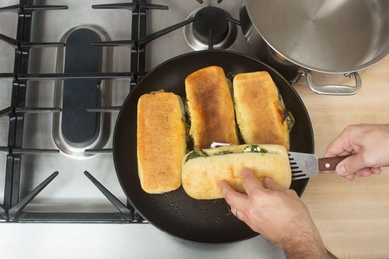 Cook the paninis & serve your dish: