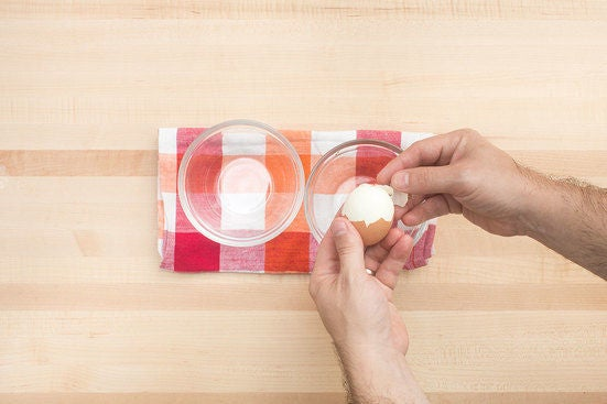 Cook & peel the egg: