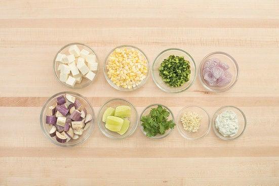 Prepare the ingredients & make the crema sauce: