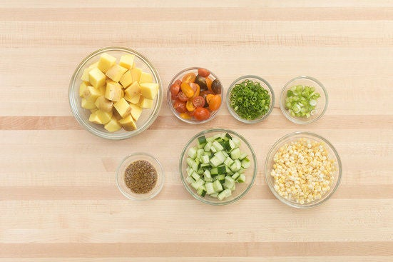 Prepare the ingredients & make the honey mustard: