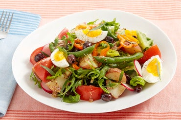 Summer Vegetable Niçoise Salad with Summer Sweet Peppers & Hard-Boiled Eggs