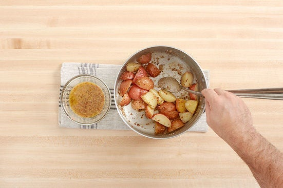 Cook & dress the potatoes: