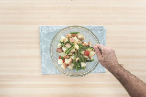 Make the green bean & potato salad: