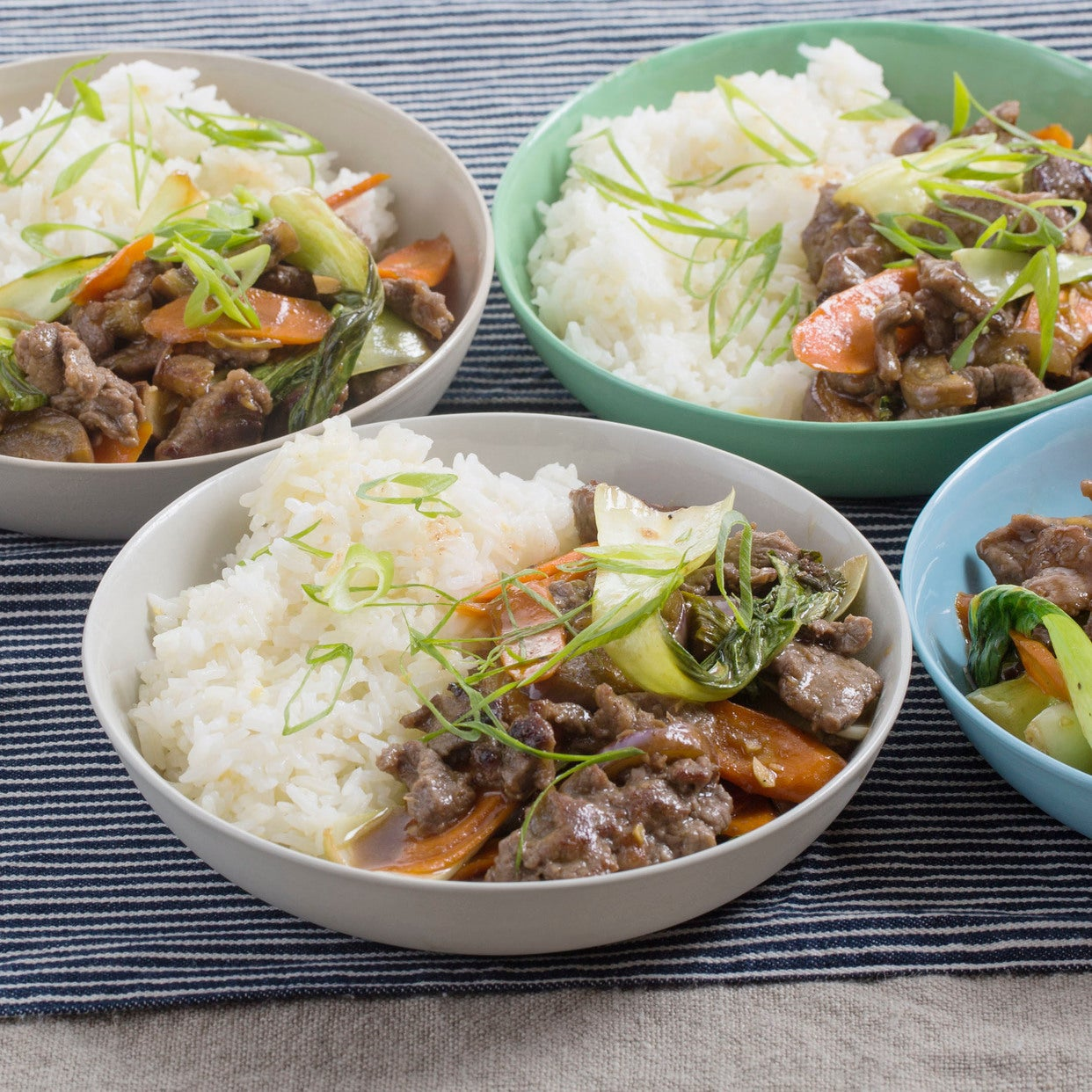 Hoisin Beef & Vegetable Stir-Fry with Fairy Tale Eggplants & Garlic Rice