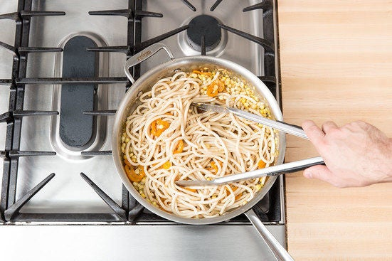 Add the noodles & sauce:
