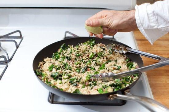Add the quinoa: