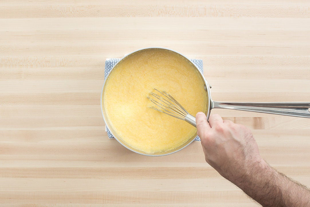 Make the cheese grits: