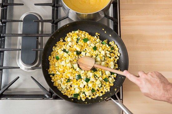 Cook the corn & squash: