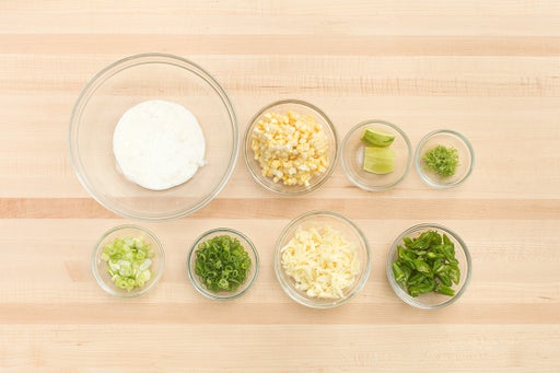 Prepare the ingredients & make the lime crème fraîche: