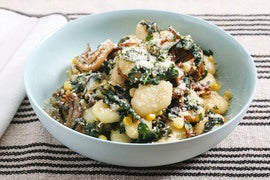 Brown Butter & Thyme Gnocchi with Maitake Mushrooms, Corn & Swiss Chard