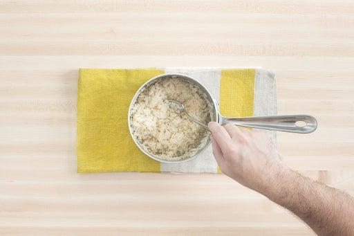 Make the shiitake rice:
