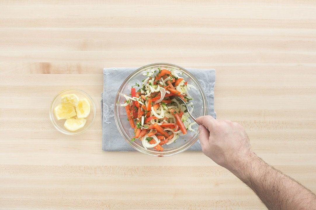 Make the salad: