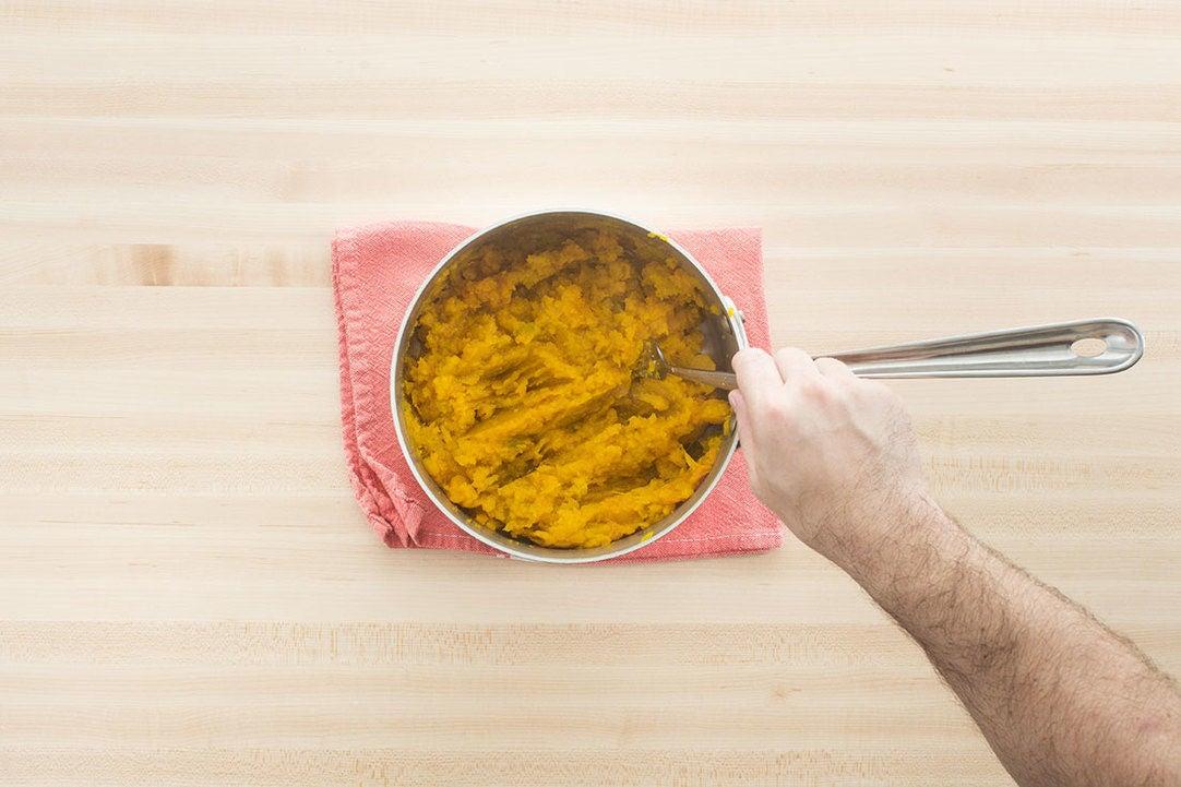 Cook & mash the squash: