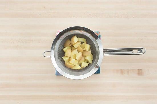 Cook the potato: