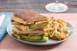 Avocado Tempura Tortas with Spicy Turnip & Cabbage-Carrot Slaw