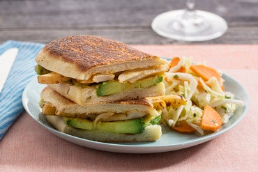 Avocado Tempura Tortas with Spicy Turnip & Green Cabbage-Carrot Slaw