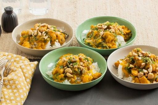 Thai Green Curry Chicken with Butternut Squash & Jasmine Rice