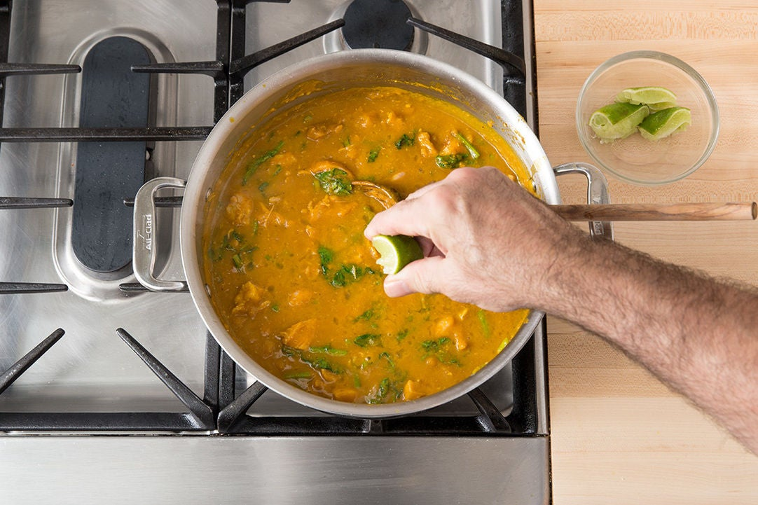 Finish the curry: