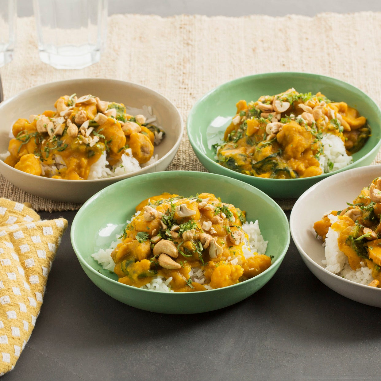 Thai Green Curry Chicken with Butternut Squash & Jasmine Rice