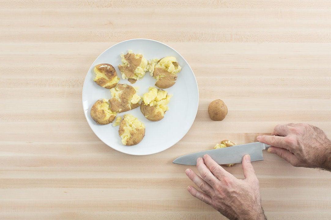 Cook & smash the potatoes: