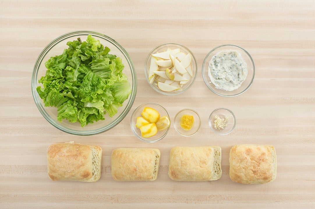 Prepare the ingredients & make the caper mayonnaise: