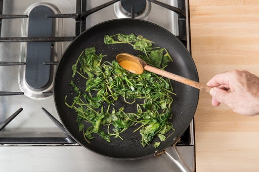 Cook & chop the kale: