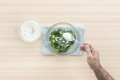 Make the broccolini salad:
