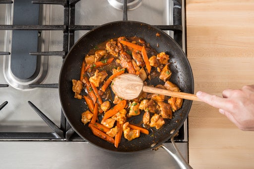 Cook the chicken & carrots:
