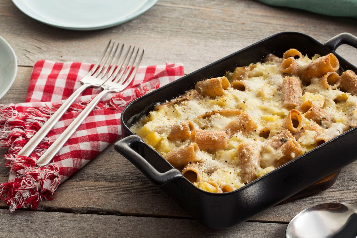 Blue apron near me - Baked Whole Wheat Rigatoni With Cone Cabbage Sage