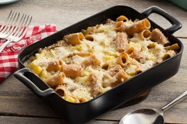 Baked Whole Wheat Rigatoni with Cone Cabbage & Sage