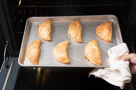 Bake the empanadas: