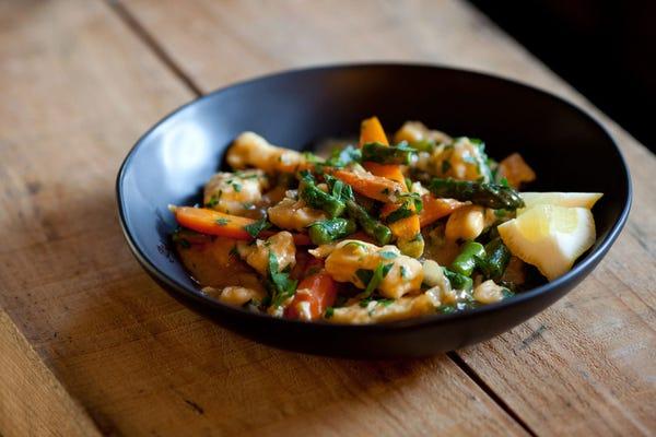 New Jersey Asparagus & Dumplings