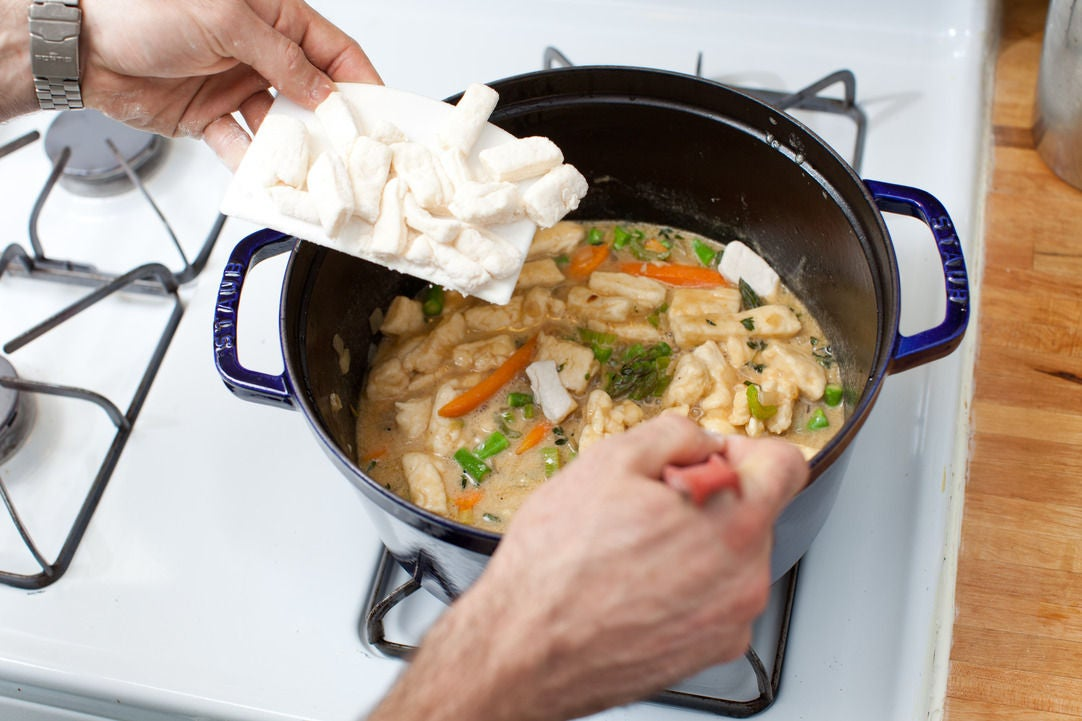 Add the dumplings: