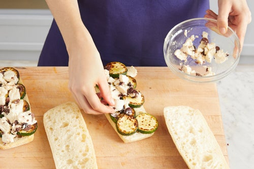 Assemble & press the paninis:
