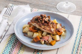Pan-Seared Chicken with Roasted Honeynut Squash & Apple