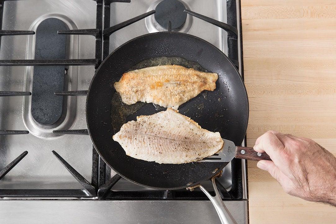 Coat & cook the catfish: