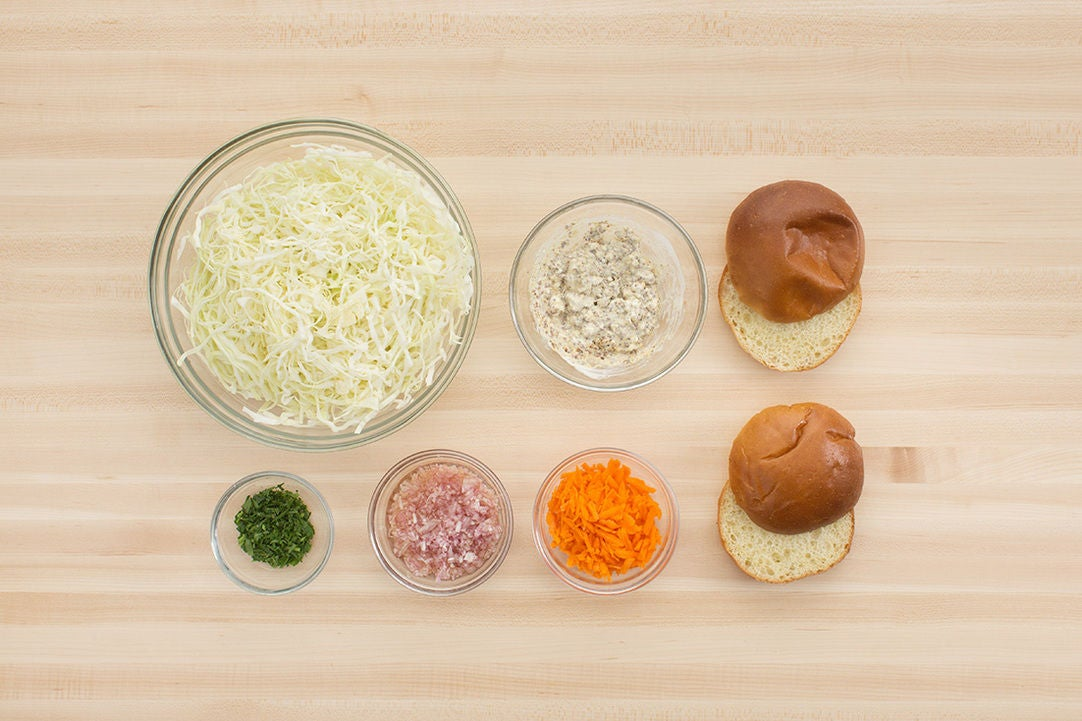 Prepare the ingredients & make the cheese sauce: